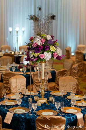 Indian wedding reception decor design style