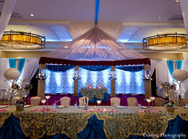 Indian wedding reception decor venue