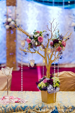 Indian wedding reception style decor