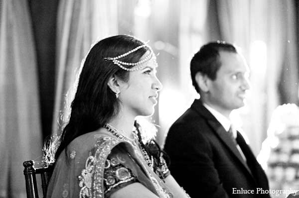 Indian wedding bride groom reception in San Francisco, California Indian Wedding by Enluce Photography