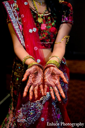 Indian wedding reception fashion bride mehndi in San Francisco, California Indian Wedding by Enluce Photography