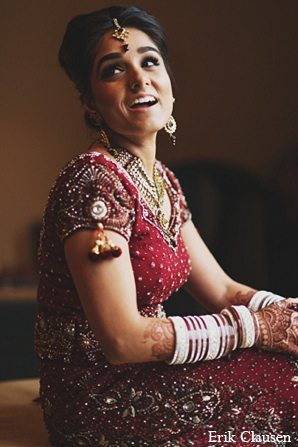 Indian wedding bridal fashion lengha in Dallas, Texas Indian Wedding by Erik Clausen