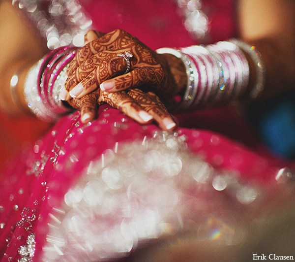 Indian wedding bridal mehndi jewelry in Dallas, Texas Indian Wedding by Erik Clausen