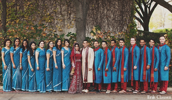 This gorgeous Indian couple celebrate their lively wedding festivities in Dallas, Texas.