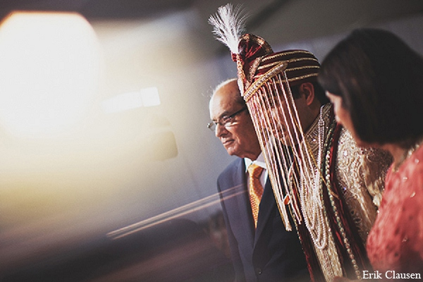 Indian wedding bride baraat photography in Dallas, Texas Indian Wedding by Erik Clausen