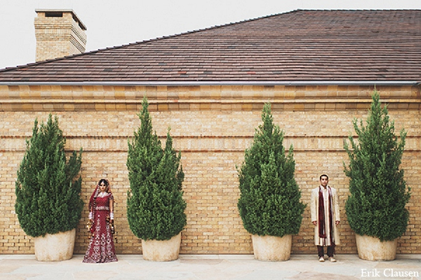 Indian wedding bride groom photography outdoor in Dallas, Texas Indian Wedding by Erik Clausen