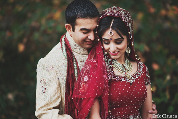 Indian wedding bride groom portrait in Dallas, Texas Indian Wedding by Erik Clausen