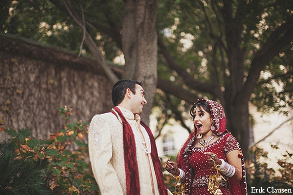 Indian wedding bride groom portraits in Dallas, Texas Indian Wedding by Erik Clausen
