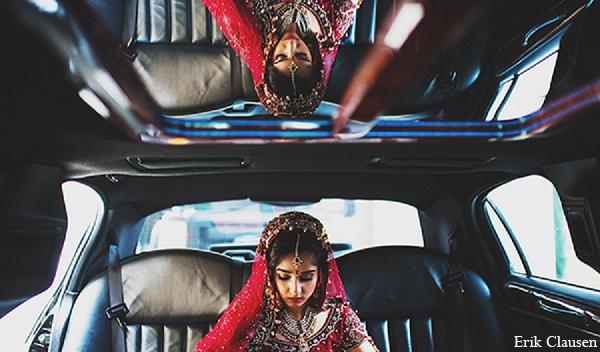 Indian wedding bride photography transportation in Dallas, Texas Indian Wedding by Erik Clausen