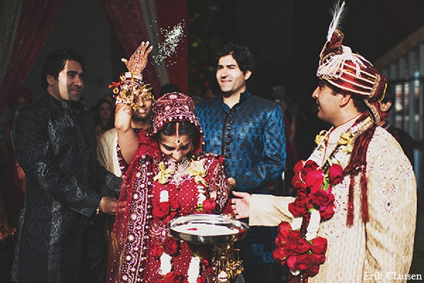 Indian wedding ceremony bride groom in Dallas, Texas Indian Wedding by Erik Clausen