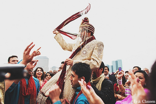Indian wedding groom baraat photography in Dallas, Texas Indian Wedding by Erik Clausen