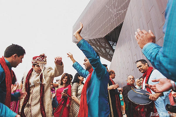 Indian wedding groom photography baraat in Dallas, Texas Indian Wedding by Erik Clausen