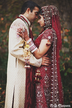 indian wedding portrait bride groom