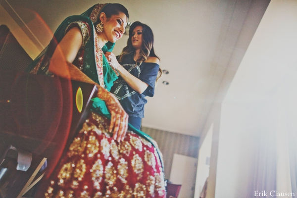 Indian wedding bride getting ready ceremony in Westlake, Texas Indian Wedding by Erik Clausen Photography