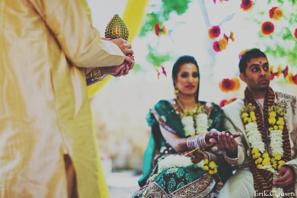 Indian wedding bride groom ceremony in Westlake, Texas Indian Wedding by Erik Clausen Photography
