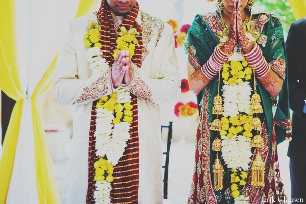 Indian wedding bride groom jai mala in Westlake, Texas Indian Wedding by Erik Clausen Photography