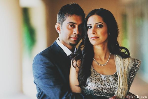 Indian wedding bride groom portrait in Westlake, Texas Indian Wedding by Erik Clausen Photography