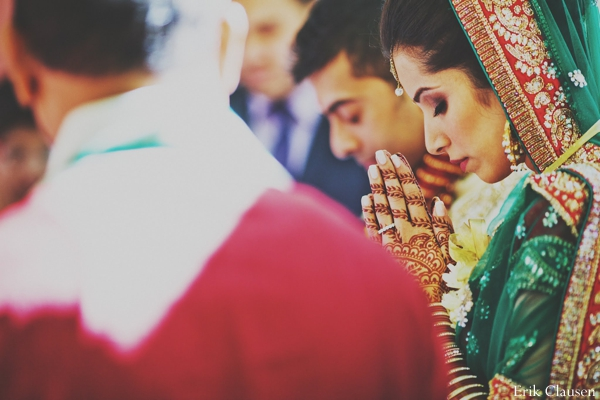 Indian wedding bride traditional rituals ceremony in Westlake, Texas Indian Wedding by Erik Clausen Photography