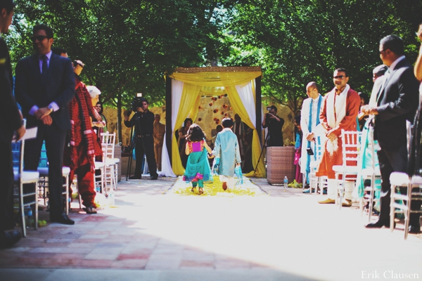Indian wedding ceremony mandap outdoor in Westlake, Texas Indian Wedding by Erik Clausen Photography