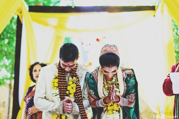 Indian wedding ceremony praying tradtional customs  rituals in Westlake, Texas Indian Wedding by Erik Clausen Photography