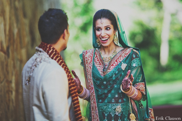 Indian wedding lengha traditional portrait in Westlake, Texas Indian Wedding by Erik Clausen Photography