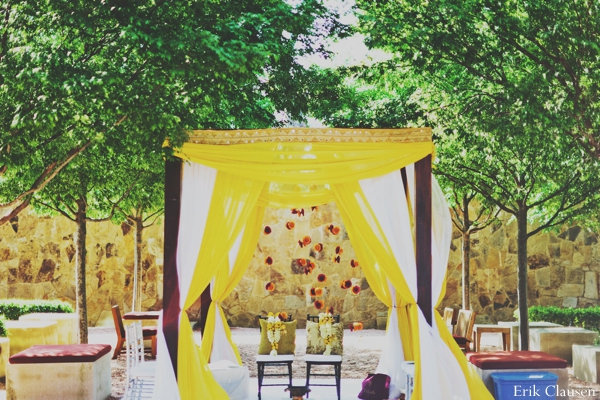 Indian wedding mandap ceremony traditional colorful in Westlake, Texas Indian Wedding by Erik Clausen Photography
