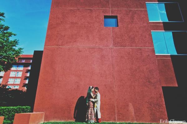 Indian wedding outdoor ceremony bride groom in Westlake, Texas Indian Wedding by Erik Clausen Photography