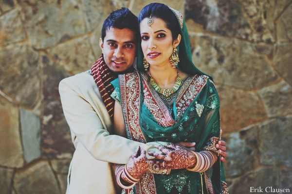 Indian wedding portrait lengha ceremony in Westlake, Texas Indian Wedding by Erik Clausen Photography