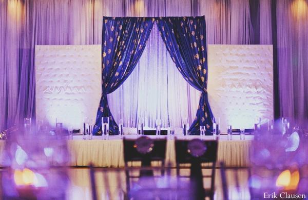 Indian wedding reception lighting inspiration in Westlake, Texas Indian Wedding by Erik Clausen Photography