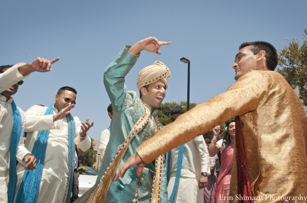 Indian wedding baraat dancing celebration in Picturesque Indian Wedding + Garba by Erin Shimazu Photography, San Diego, California
