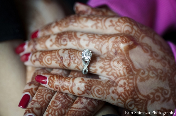 Indian wedding bridal henna diamond ring in Picturesque Indian Wedding + Garba by Erin Shimazu Photography, San Diego, California