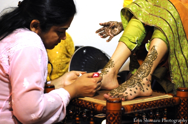 Indian wedding bridal henna mehndi in Picturesque Indian Wedding + Garba by Erin Shimazu Photography, San Diego, California