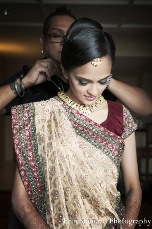 Indian wedding bridal lengha in Picturesque Indian Wedding + Garba by Erin Shimazu Photography, San Diego, California