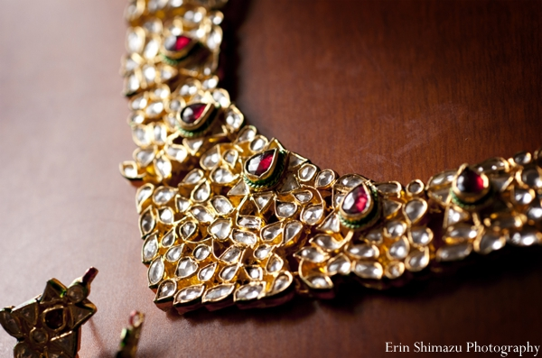 Indian wedding bridal necklace jewelry in Picturesque Indian Wedding + Garba by Erin Shimazu Photography, San Diego, California