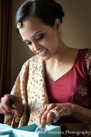 Indian wedding bridal prep ceremony traditional in Picturesque Indian Wedding + Garba by Erin Shimazu Photography, San Diego, California