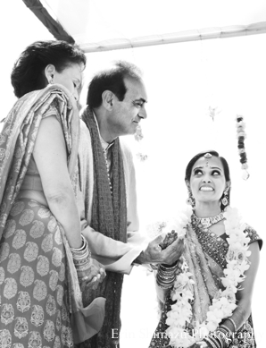Indian wedding bride ceremony black and white in Picturesque Indian Wedding + Garba by Erin Shimazu Photography, San Diego, California