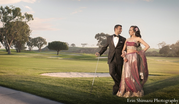 Indian wedding bride groom portraits in Picturesque Indian Wedding + Garba by Erin Shimazu Photography, San Diego, California