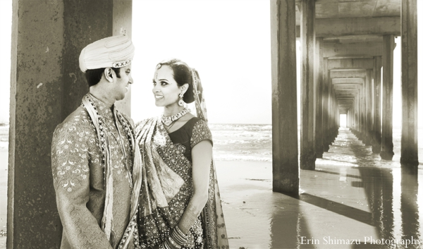 bride and groom,black and white photography,indian wedding portraits,indian wedding traditional dress,couple's portrait,Erin Shimazu Photography