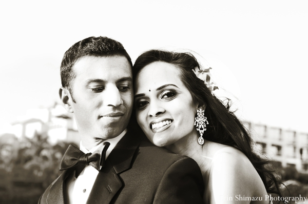 white,black,indian bride and groom portrait,indian wedding couple's portrait,black and white photography,indian wedding portraits,indian portrait,reception portrait of bride and groom,Erin Shimazu Photography