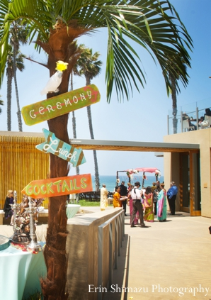Indian wedding ceremony decor outdoors in Picturesque Indian Wedding + Garba by Erin Shimazu Photography, San Diego, California