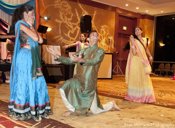 Indian wedding garba celebration dance in Picturesque Indian Wedding + Garba by Erin Shimazu Photography, San Diego, California
