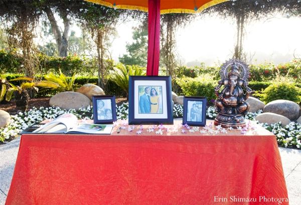 Indian wedding garba table in Picturesque Indian Wedding + Garba by Erin Shimazu Photography, San Diego, California
