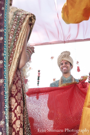 indian wedding ceremony,wedding ceremony,Erin Shimazu Photography,groom at wedding ceremony