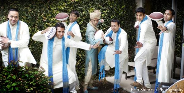 Indian wedding groom groomsmen sherwanis in Picturesque Indian Wedding + Garba by Erin Shimazu Photography, San Diego, California