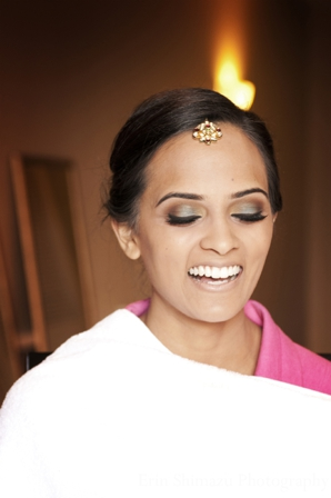 Indian wedding hair makeup in Picturesque Indian Wedding + Garba by Erin Shimazu Photography, San Diego, California