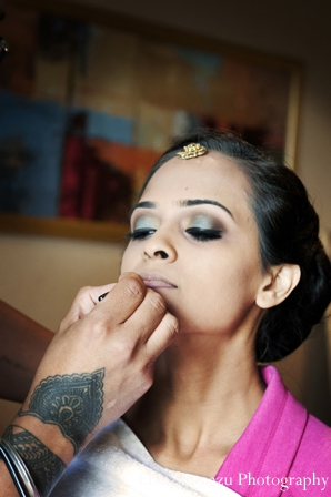 Indian wedding makeup ideas inspiration tikka in Picturesque Indian Wedding + Garba by Erin Shimazu Photography, San Diego, California