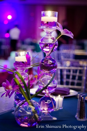 Indian wedding reception lighting decor in Picturesque Indian Wedding + Garba by Erin Shimazu Photography, San Diego, California
