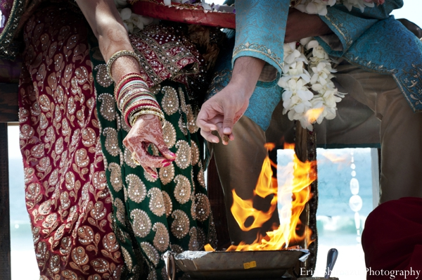 Indian wedding traditional customs rituals fire in Picturesque Indian Wedding + Garba by Erin Shimazu Photography, San Diego, California