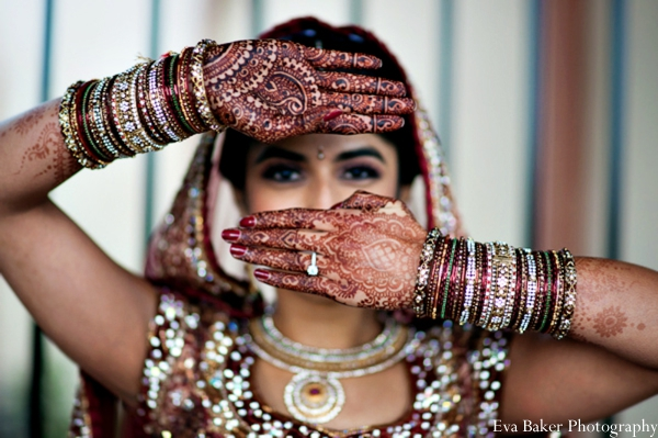 Indian-wedding-bride-portrait-ideas-mehndi-bangles