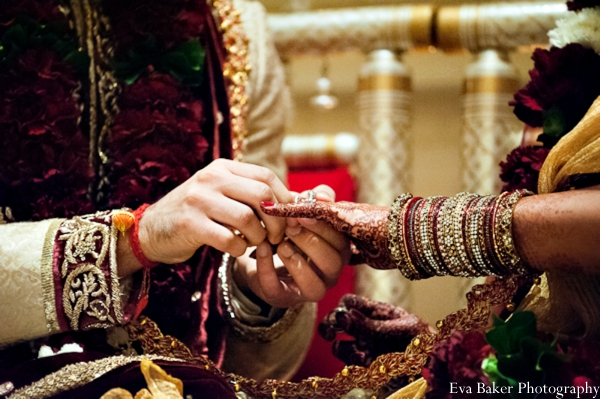 Indian-wedding-ceremony-groom-bride-detail